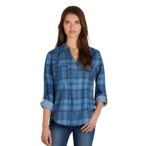 Joie 'Ciril' Blue Chambray Check Button Down Shirt
